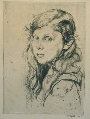 Works on Paper - Portrait of a Girl