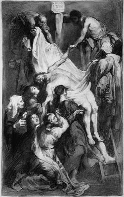 Works on Paper - Christ on the Cross after Rubens