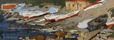 Select Sold Works: Denis Sarazhin - Boats on the Beach