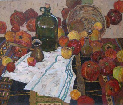 Select Sold Works: Denis Sarazhin - Still Life with Pomegranates