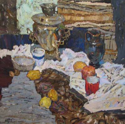 Select Sold Works: Denis Sarazhin - Still Life with Samovar