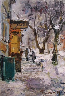 Select Sold Works: Tuman Zhumabaev - Winter in the City