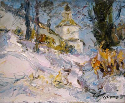 Select Sold Works: Tuman Zhumabaev - Church in Suzdal