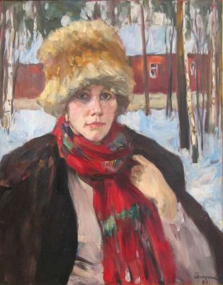 Archives: Boris Lavrenko - Girl in Fur Hat