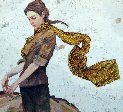 Denis Sarazhin - A Portrait in a Scarf