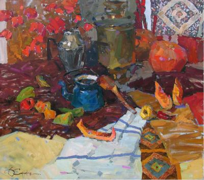 Select Sold Works: Denis Sarazhin - Still Life with Melon