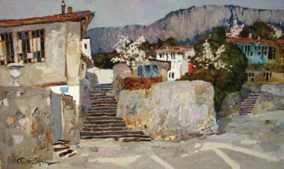 Select Sold Works: Denis Sarazhin - In Front of the Houses