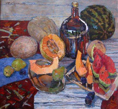 Select Sold Works: Denis Sarazhin - Still Life with Melons