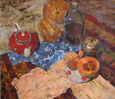 Select Sold Works: Denis Sarazhin - Still Life with Red Teapot