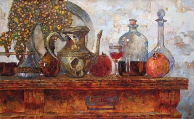 Select Sold Works: Denis Sarazhin - Still Life on a Table