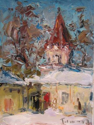 Select Sold Works: Tuman Zhumabaev - Church Study