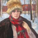 Boris Lavrenko - Girl in Fur Hat