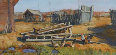 Andrey Alekhin - Chickens in the Yard