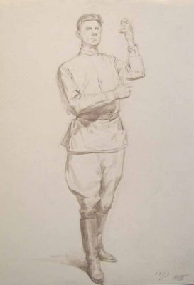 Works on Paper - Standing Soldier
