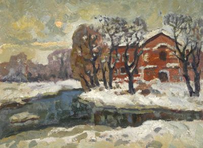 Sold Works: Evgeni Chuikov - Red House