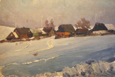 Galina Fedorova - Winter in the Village, 1963