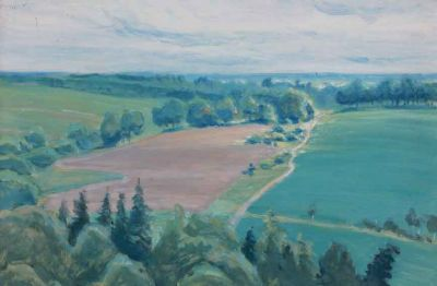 Natalya Gippius - View of Green Fields, 1940
