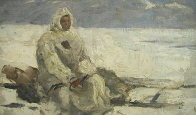 Enver Ishmametov - Chukcha on the Sled