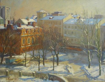 Sold Works: Ilmar Kimm - Winter in Tallinn