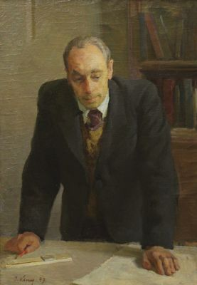 Ilmar Kimm - Portrait of Engineer Kokas, 1949