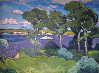 Georgi Kolosovski - Boat on the Dnieper