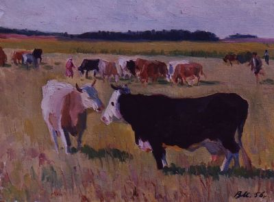 Sold Works: Vladimir Masik - Collective Farm Herd