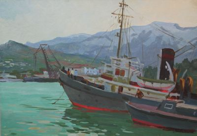 Vladimir Masik - In Yalta Port, 1963