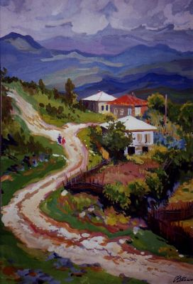 Sold Works: Vladimir Masik - Mountain Road in Georgia