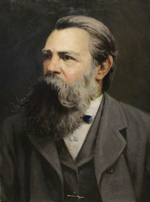 Sold Works: Vladimir Masik - Portrait of Friedrich Engels, 1950s