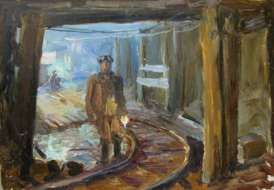 Konstantin Mikhailov - Into the Mine, 1965