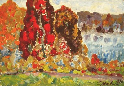Sold Works: Gavriil Malysh - Autumn in the Forest