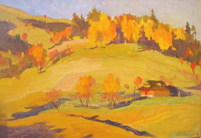 Vladimir Masik - Farm House Autumn, 1962