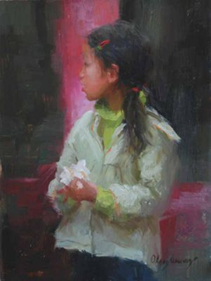 Select Sold Works: Marci Oleszkiewicz - Pink and Green