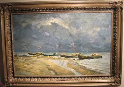 Sold Works: Boris Spornikov - Fishing Boats