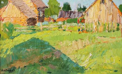 Sold Works: Nikolai Timkov - Summer Yard
