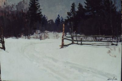 Sold Works: Nikolai Timkov - Winter Road