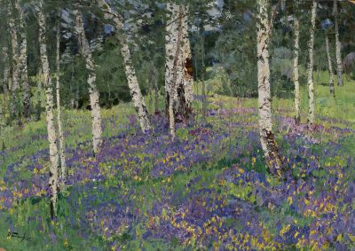 Sold Works: Nikolai Timkov - Birches