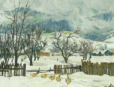 Zinaida Volkovinskaya - Winter in Carpathia