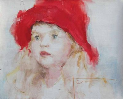 Yana Golubyatnikova - Girl in Red Hat