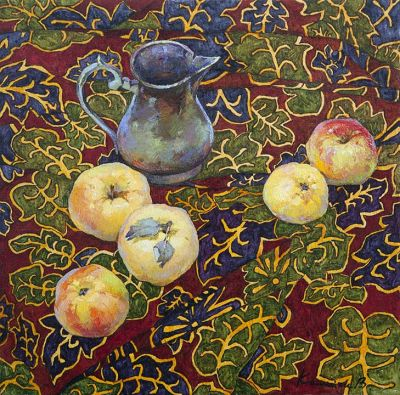 Victoria Kalaichi - Apples on the Leaves