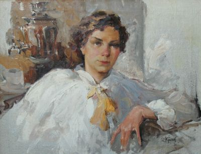 Ivan Krylov - Portrait of a Woman, 1950s