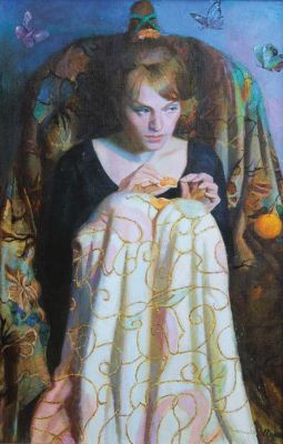 Natalya Makovetskaya - Girl with Orange
