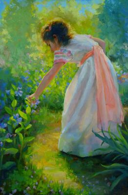 Select Sold Works: Marci Oleszkiewicz - Moments In The Garden