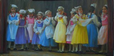 Select Sold Works: Marci Oleszkiewicz - Behind The Curtain