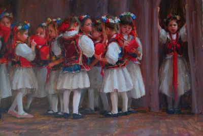 Select Sold Works: Marci Oleszkiewicz - The Curtain Calls