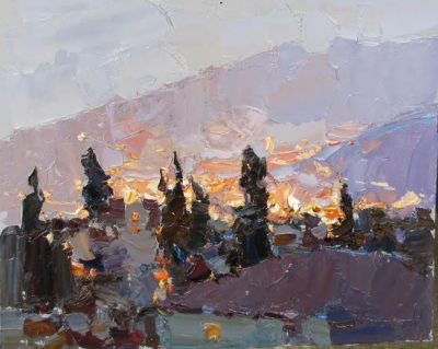 Select Sold Works: Daniil Volkov - Lights of the Night Town