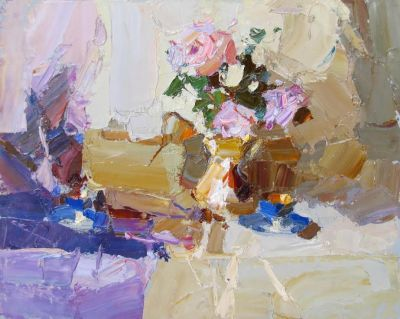 Select Sold Works: Daniil Volkov - Still Life with Roses