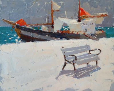 Select Sold Works: Daniil Volkov - A Bench for Sailors