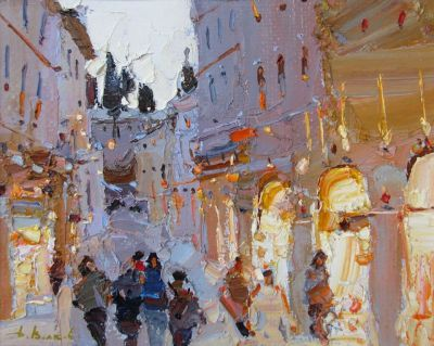 Select Sold Works: Daniil Volkov - Evening Browsing