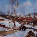 Sold Works: Boris Spornikov - Village of Sedneva, Spring